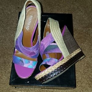 Boutique 9 Isabella raffia tie dye wedge 9.5